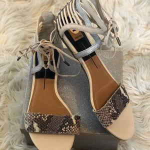 Dolce Vita | Snake Print Ankle Sandals Size11